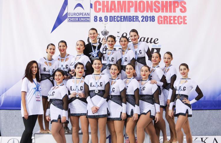 Στις πρώτες θέσεις της Cheer League για το 2018  οι ελληνικές ομάδες