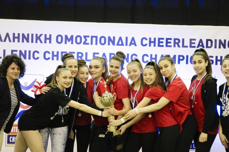 Κυριάρχησαν οι Αμαζόνες στο 2ο Κύπελλο Ελλάδος του Cheerleading